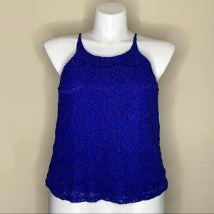 NWT Blue Lace Tank Top